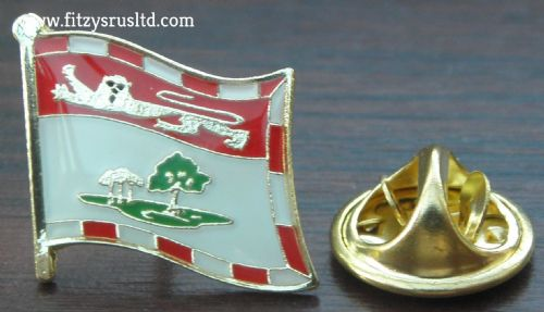 PEI Prince Edward Island Flag Lapel Hat Cap Tie Pin Badge Duke of Kent Souvenir